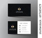 modern business card design... | Shutterstock .eps vector #697685479