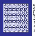 openwork geometric ornament for ... | Shutterstock .eps vector #697687651