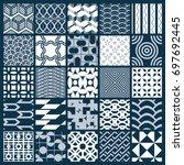 graphic ornamental tiles... | Shutterstock . vector #697692445