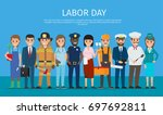 labor day vector poster of... | Shutterstock .eps vector #697692811