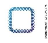 decorative award vintage square ... | Shutterstock . vector #697698475
