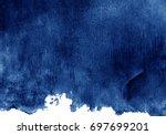 dark blue watercolor background | Shutterstock . vector #697699201