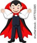 cartoon happy vampire    Shutterstock .eps vector #697701085