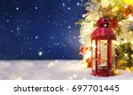 christmas tree with decoration... | Shutterstock . vector #697701445