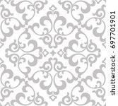 floral pattern. wallpaper... | Shutterstock . vector #697701901