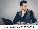 businessmen are using... | Shutterstock . vector #697706554