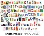 Grunge Newspaper Alphabet With...
