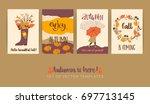 Set Of Autumn Templates. Vecto...