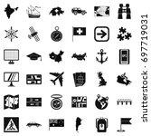 mark cartography icons set....   Shutterstock .eps vector #697719031