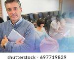 digital composite of university ... | Shutterstock . vector #697719829