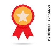 insignia  badge and quality... | Shutterstock . vector #697722901