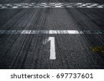 first place on the starting line | Shutterstock . vector #697737601