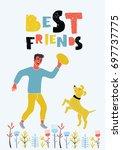vector funny illustariton of... | Shutterstock .eps vector #697737775