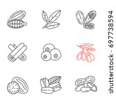 spices linear icons set. thin...   Shutterstock .eps vector #697738594