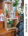 the flowers of wedding... | Shutterstock . vector #697740979
