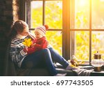 happy family mother and baby... | Shutterstock . vector #697743505