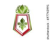 vintage heraldic emblem created ... | Shutterstock . vector #697743991