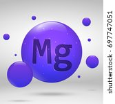 magnesium icon. mineral drop... | Shutterstock .eps vector #697747051