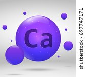 calcium icon. mineral drop pill ... | Shutterstock .eps vector #697747171