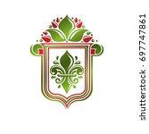 vintage heraldic emblem created ... | Shutterstock . vector #697747861