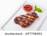 pork or beef steak with spicy...