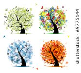 four seasons   spring  summer ... | Shutterstock .eps vector #69775144