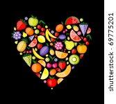 energy fruit heart shape for... | Shutterstock .eps vector #69775201