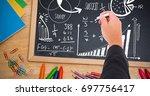 digital composite of hand... | Shutterstock . vector #697756417