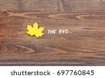 yellow leaf with the...   Shutterstock . vector #697760845