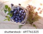 blueberry antioxidant organic...   Shutterstock . vector #697761325