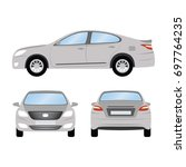 car vector template on white... | Shutterstock .eps vector #697764235