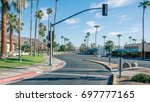 palm spring road   Shutterstock . vector #697777165