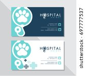 business card vector design and ... | Shutterstock .eps vector #697777537