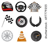 racing icons racing objects