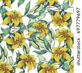 seamless floral pattern of... | Shutterstock . vector #697779697