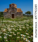 an old small church in a... | Shutterstock . vector #697792285