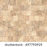 Beige Stone Tiles Texture With...
