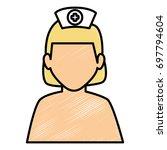 woman nurse avatar character | Shutterstock .eps vector #697794604