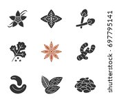 spices glyph icons set.... | Shutterstock .eps vector #697795141