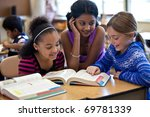 kids in classroom studying | Shutterstock . vector #69781339