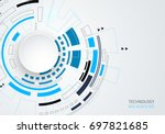 vector digital technology...   Shutterstock .eps vector #697821685