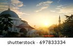turkish mosque at sunset in... | Shutterstock . vector #697833334