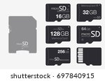 top view micro sd to sd memory... | Shutterstock .eps vector #697840915