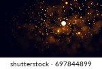 gold abstract bokeh background. ...   Shutterstock . vector #697844899