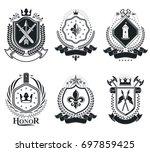 vintage design elements. retro...   Shutterstock . vector #697859425
