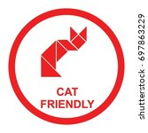 pet friendly sign vector.... | Shutterstock .eps vector #697863229