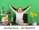 study room and back to school... | Shutterstock . vector #697866955