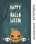halloween holidays posters or... | Shutterstock .eps vector #697870891