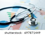 medical statistics and graphic... | Shutterstock . vector #697871449