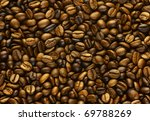 Golden Coffee  Background...